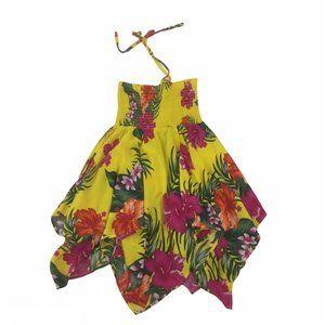 Hawaiian Fashion Yellow Floral Dress Size 8
